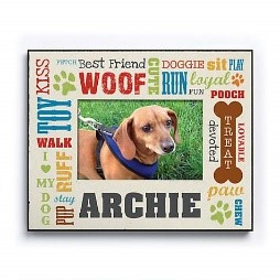 image of Custom personalized all about the dog frame for pet gift