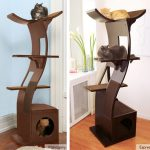 Lotus Espresso Mahogany cat tower